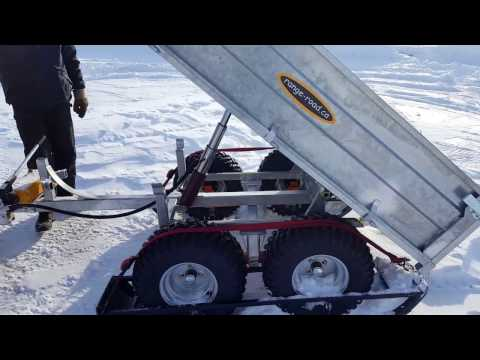 Range Road RR650 Atv/Utv Tandem Dump Trailer with manual pump