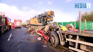 Dode en zwaargewonde bij ernstig ongeval snelweg A16 Rotterdam