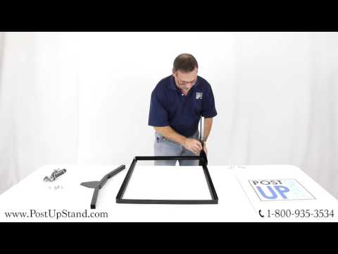 Post-Up Stand How To: Sidewalk Swinging Sign Stand