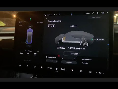 The fastest Tesla Supercharger in Canada!