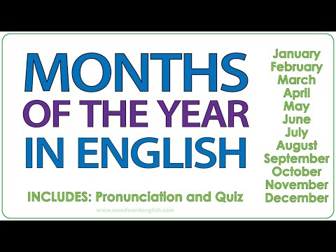 Months of the Year in English | Woodward English