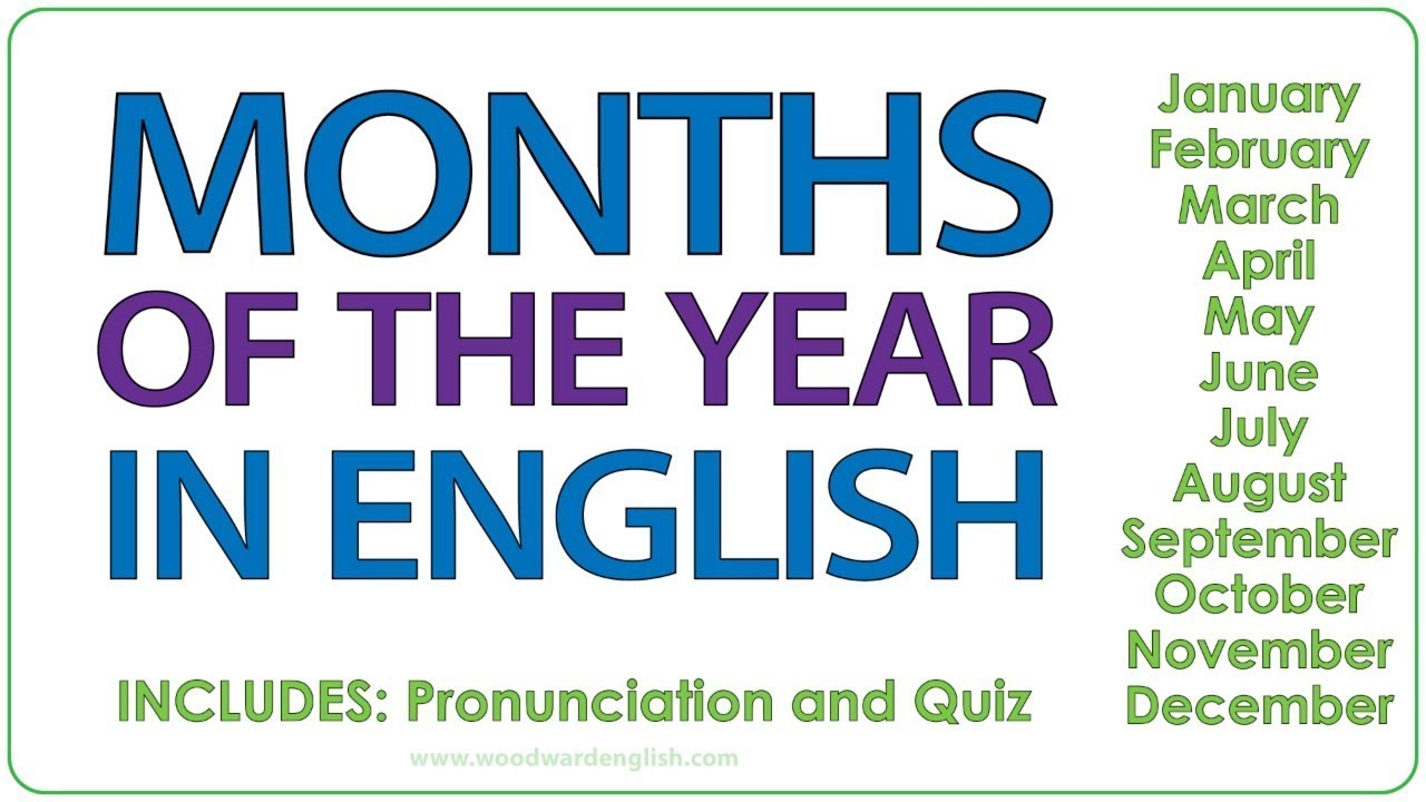 Download Months in English - Learn English