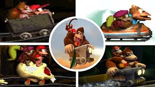 Evolution of Mine Cart Levels in Donkey Kong Country Games (1994-2018)