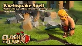 Clash of Clans: Why you should NOT upgrade earthquake spells! +war attacks using all quake spells!