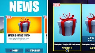 *NEW* SEASON 6 GIFTING SYSTEM RELEASE DATE! (Fortnite: Battle Royale)