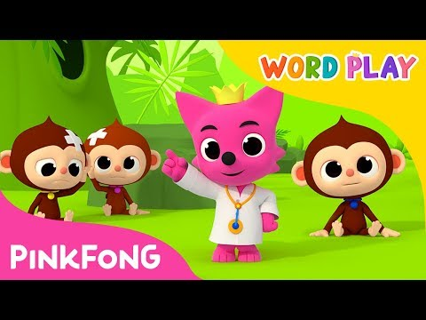 Five Little Monkeys  Word Play  Pinkfong Songs for Children