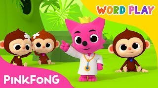 Five Little Monkeys | Word Play | Pinkfong Songs for Children