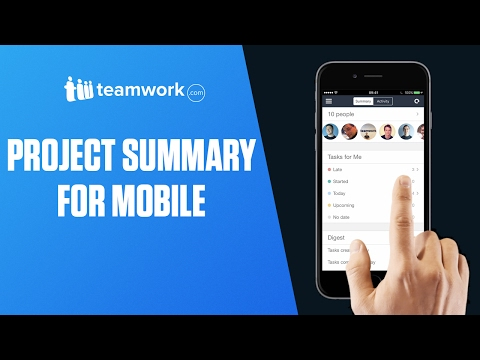 Teamwork Projects - Project Summary for Mobile