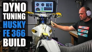 Dyno tuning at Twisted Development 🔥🔥 - Husky FE366 Dirt Bike Build