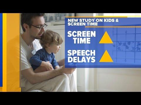 New study links screen time for children under 2 to delayed speech development