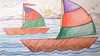How to Draw a Boat Step by Step for Children Learn Drawing and Coloring for Kids Toddlers