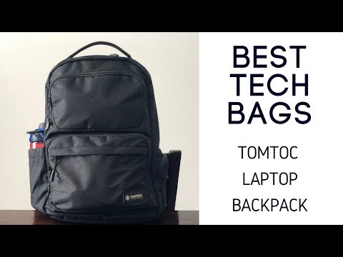 what's-in-my-budget-tech-bag-|-tomtoc-business-and-travel-laptop-backpack-review
