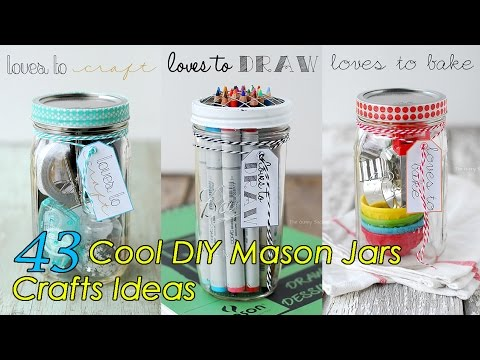 43 diy mason jars crafts ideas youtube for Cool things to do with mason jars