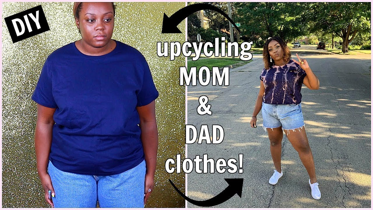 [VIDEO] - UPCYCLING My MOM & DAD's Clothes // DIY THRIFT FLIP 2