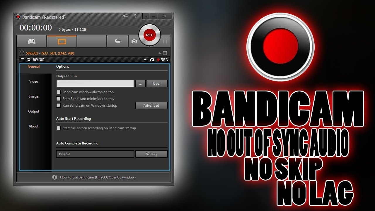 How to set up Bandicam for comfortable video recording
