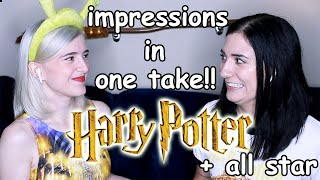 Harry Potter Impressions Challenge ft. Brizzy Voices - SINGING ALL STAR IN ONE TAKE