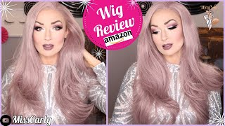 ✨Lace Front WIG REVIEW! ✨ Sapphire Wigs | 💜Pastel Purple/Lilac💜 | AMAZON | WOW! $38!!!
