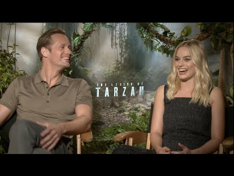 Alexander Skarsgard and Margot Robbie interview - THE LEGEND OF TARZAN