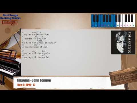 Imagine - John Lennon Piano Backing Track with chords and lyrics