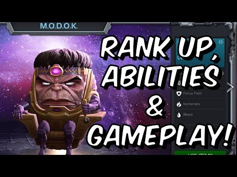 MODOK Rank Up, Abilities & Gameplay! - Marvel Contest Of Champions