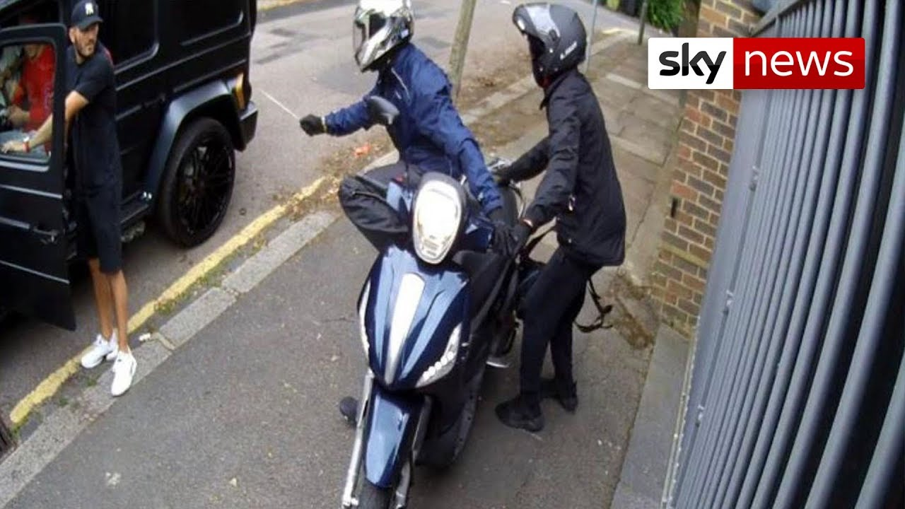 Arsenal stars targeted by armed moped thieves