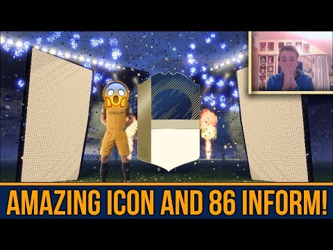 OMG AWESOME ICON IN A PACK! (+86 INFORM) BASE ICON UPGRADE SBC | FIFA 18 CZ