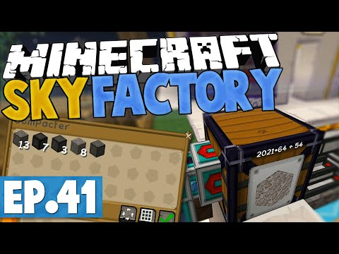 Minecraft Sky Factory 2.5 - COMPRESSING COPIOUS COBBLESTONE! #41 [Modded Skyblock]