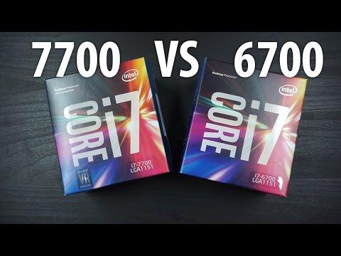 Intel Core i7-7700 Benchmarks + i7-6700 Comparison