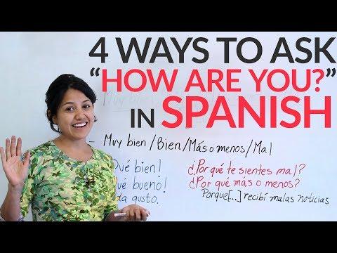 Học tiếng Tây Ban Nha(cô Ana): Bài 2 Bạn khỏe không?