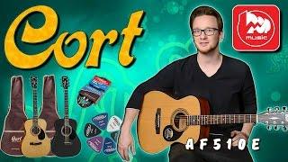 Гитарный комплект CORT AF510E (электроакустика чуть уменьшенного размера)