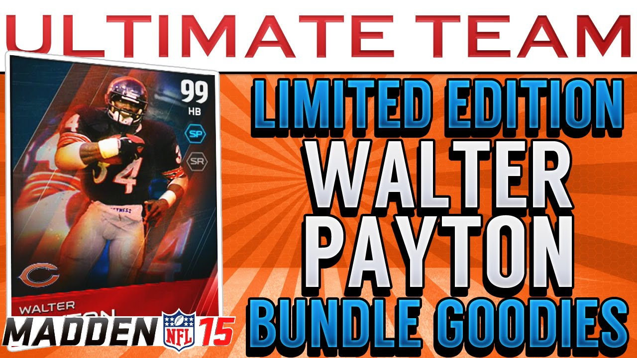 Madden 15 ultimate team limited edition walter payton ul ray lewis youtube - Walter payton madden 15 ...