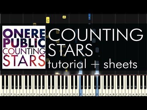 OneRepublic - Counting Stars - Piano Tutorial + Sheets