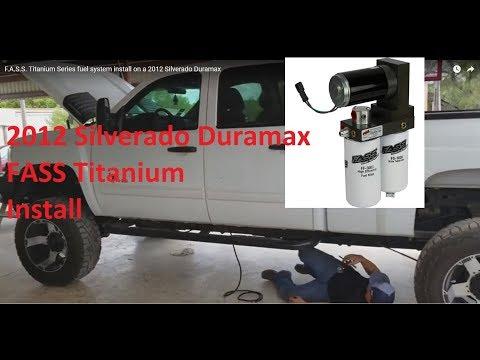 F.A.S.S. Titanium Series fuel system install on a 2012 Silverado Duramax