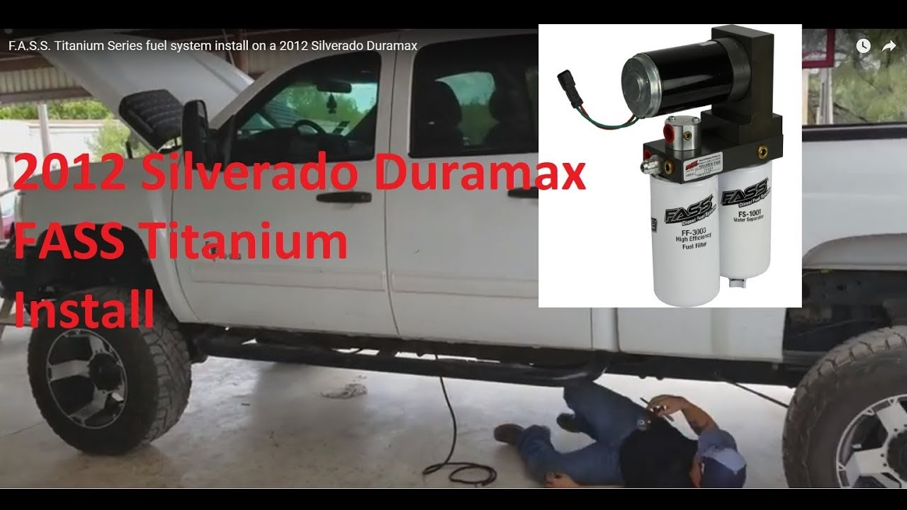 F A S S  Titanium Series fuel system install on a 2012 Silverado Duramax