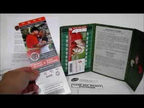 Custom Sports Ticket Wedding Invitations YouTube