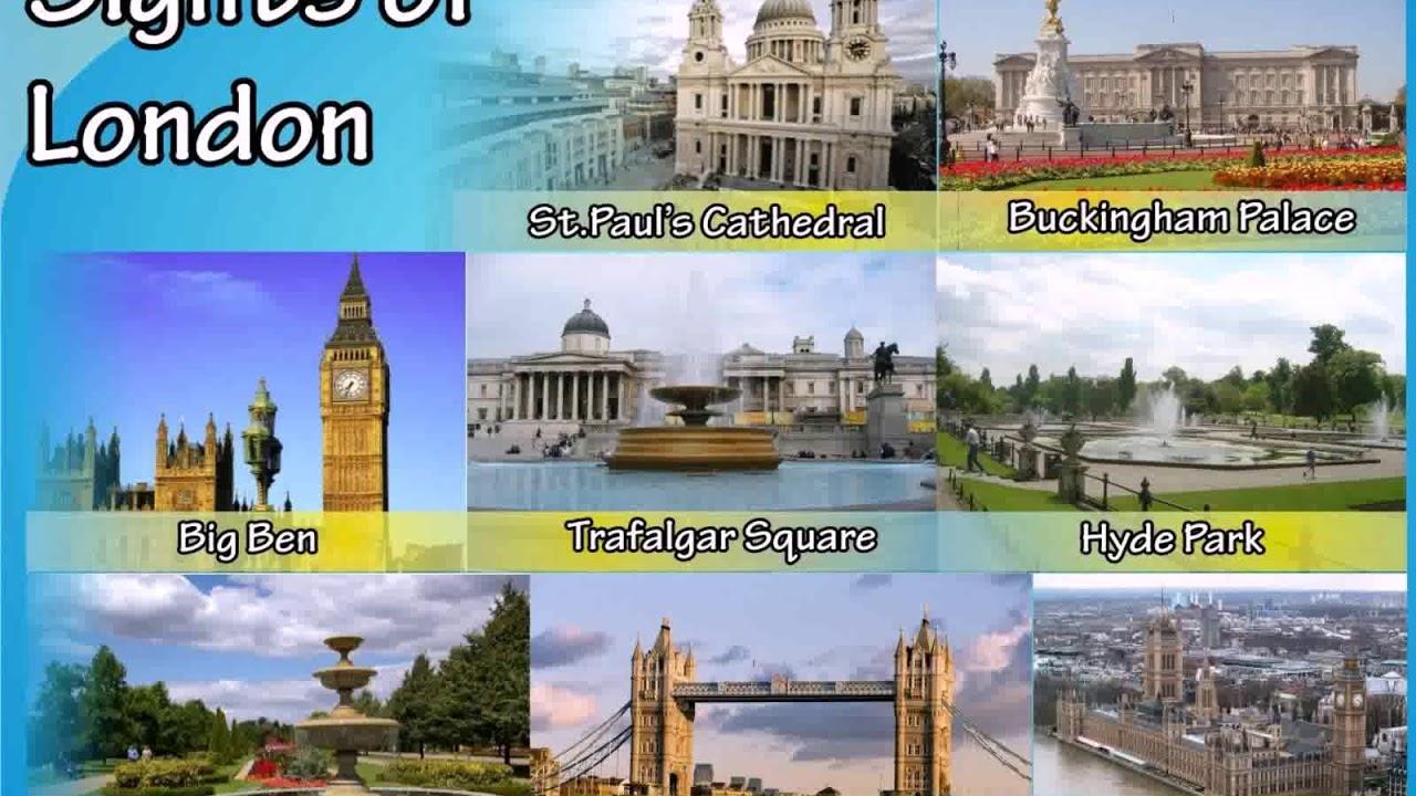 достопримечательности лондона на английском языке - YouTube