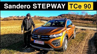 2 0 2 1: Dacia Sandero STEPWAY TCe 90 Comfort | 89 HP - 135 Nm | new car review + test drive