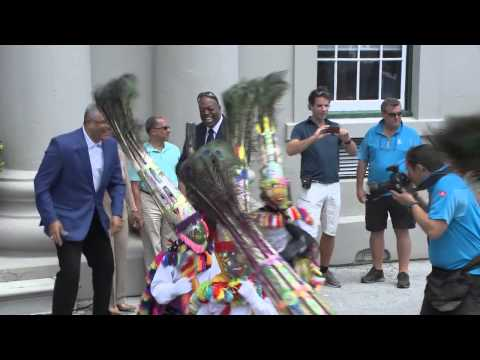The Queen's Baton Relay: Bermuda Front Street and Cabinet Office
