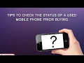 how to check used mobile phones Complete 2015