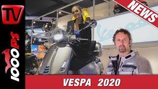 Neue Vespas für 2020 - Von den 60er Jahren bis zur flotteren Elettrica Vespa 2020 EICMA