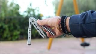 BALISONG tutorial - coltello a farfalla - spiegazione trick base HD // Joshua