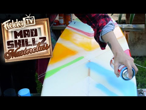 Easy spray geometric painting stencil for your surfboard or skateboard | MSM 5