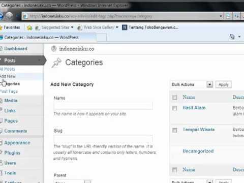Cara Membuat Postingan Artikel- Tutorial Wordpress Part-4