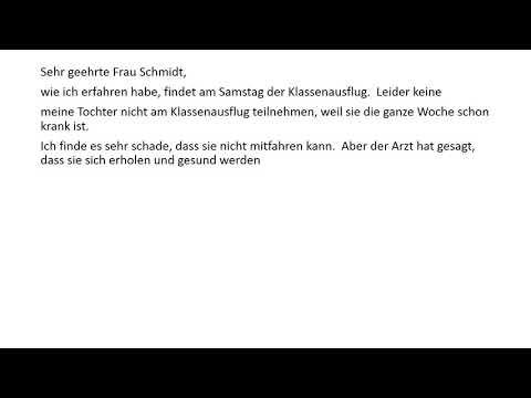 Dtz Deutsch B1 Prüfung Und A2 Briefe Schreiben Teil 1 Eine