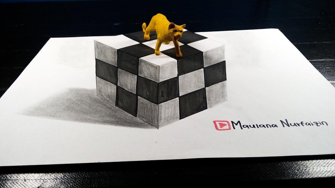 Tutorial Cara Menggambar 3d Dadu Di Kertas Gambar 3 Dimensi