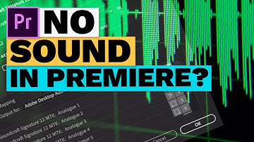 No Sound in Premiere Pro CC (How to Get Audio Hardware Setup)