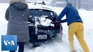 Winter Snow Storm Sweeps Across Nebraska
