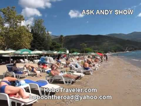 Showing Beach at Budva Montenegro