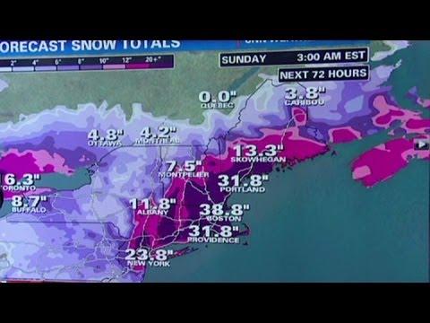 New York, Boston bracing for major blizzard