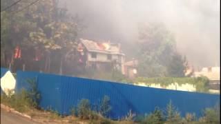 Пожар в Ростове: видео очевидцев